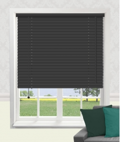 hammered black venetian blind