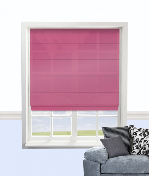 Pink Roman Blind By Citadel In Hot Pink