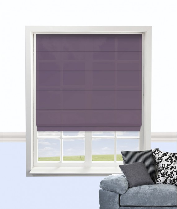 Cypress Roman Blind Plum