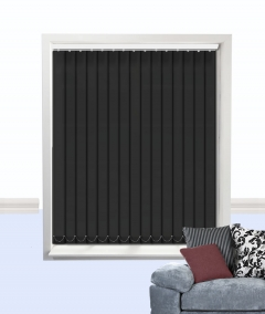 palette vertical blind black