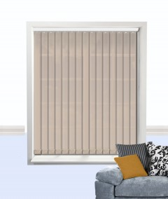 atlantex vertical blind dark beige