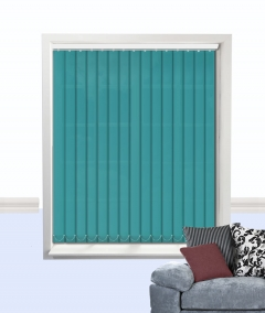 palette vertical blind teal